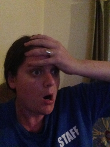 "My reaction during ""Safe Haven"". Totally not a re-enactment, I swear..."