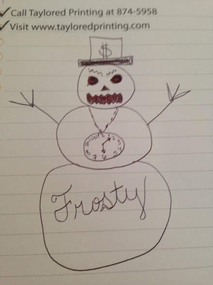Scary Snowman Drawing Contest.... Go!